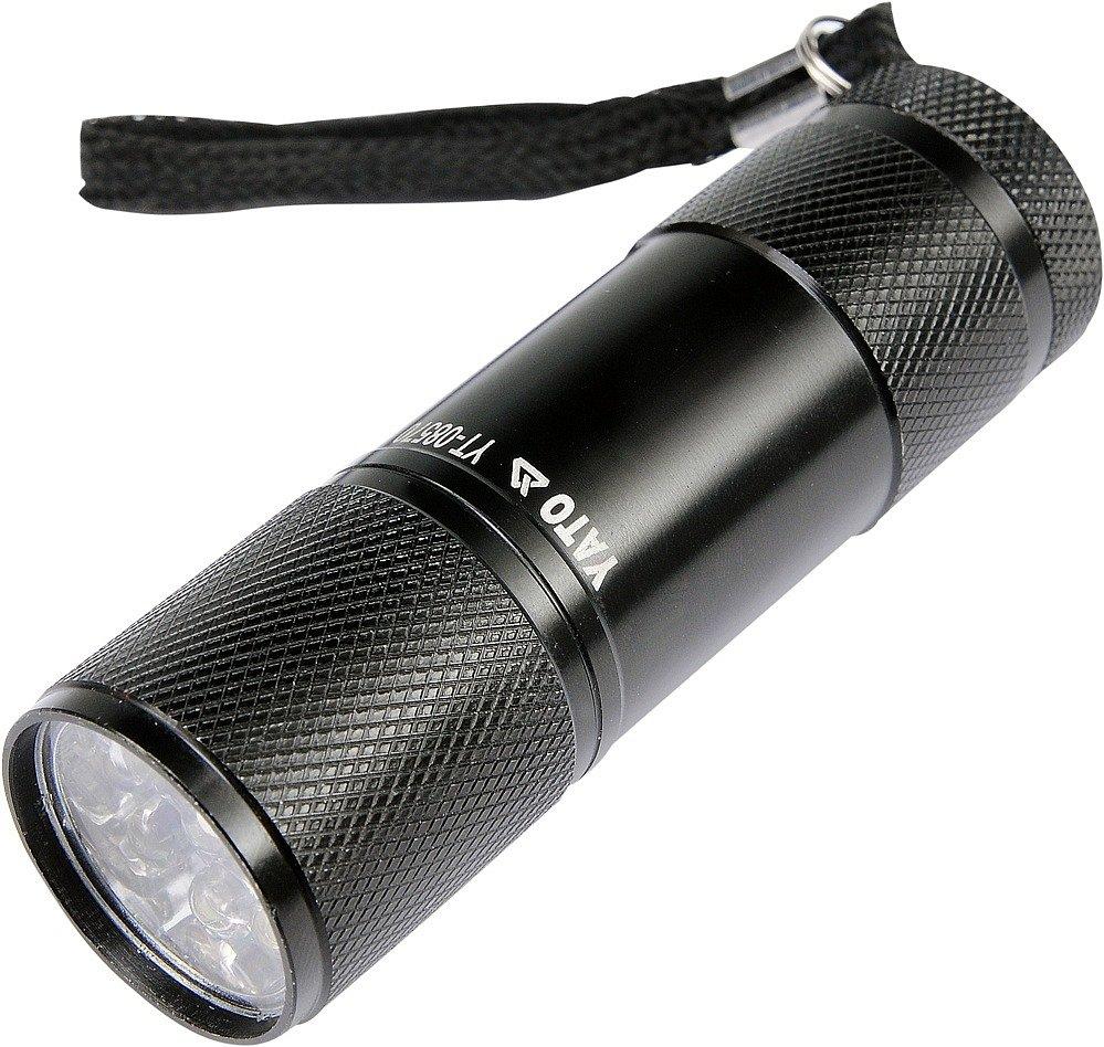 Svítilna kapesní 9 LED (ALU)