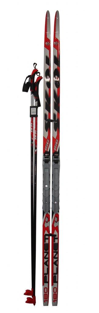ACRA Běžecký set - lyže 185cm + vázání + hole