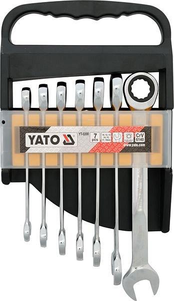 Sada klíčů očkoplochých 7ks 10-19 mm ráčnové