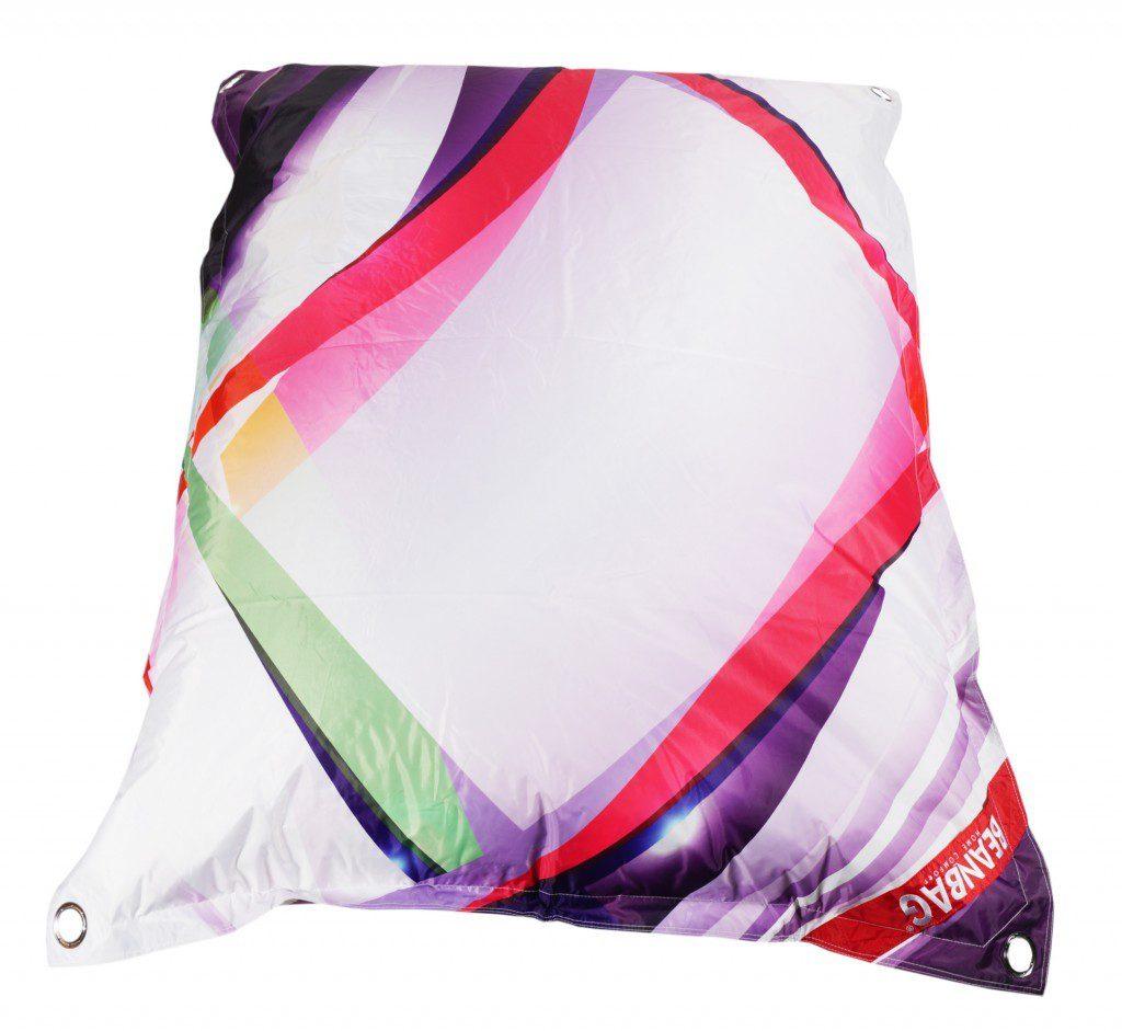 Designový sedací vak Beanbag 189x140 grafic 2 s popruhy