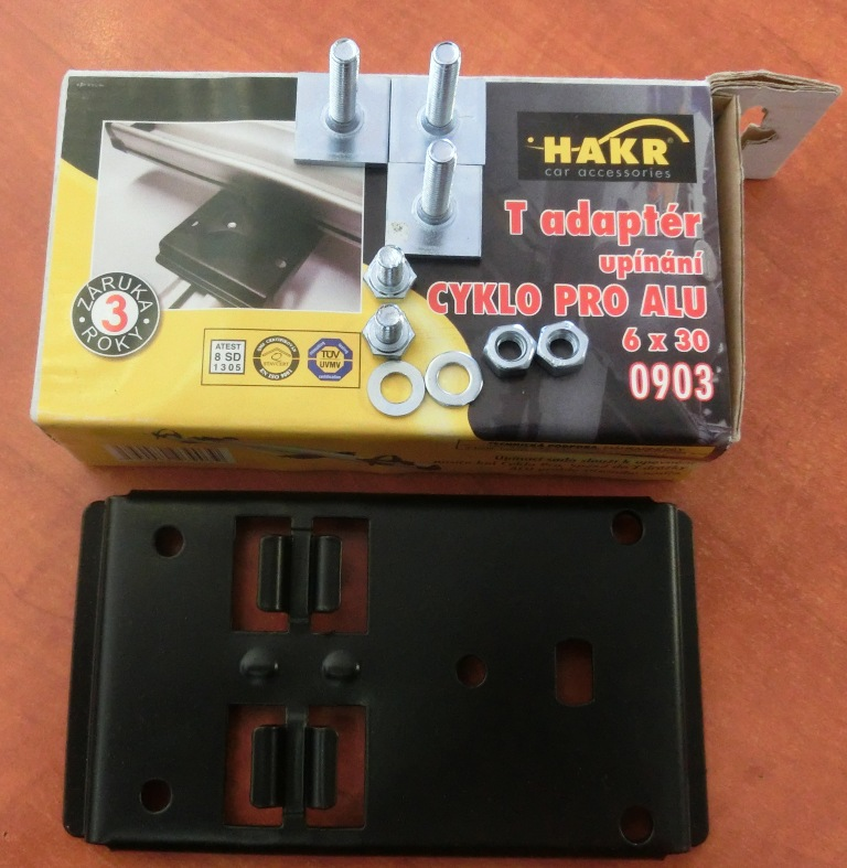 Adaptery do T-drážky alu tyčí Hakr 0903 - na nosiče Cyklo a Cyklo Alu