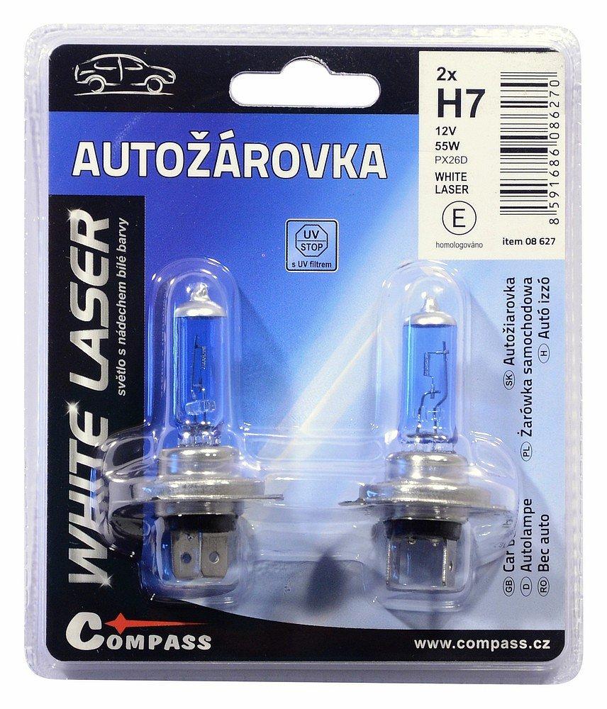Compass Žárovka 12V H7 55W PX26d WHITE LASER blister 2ks