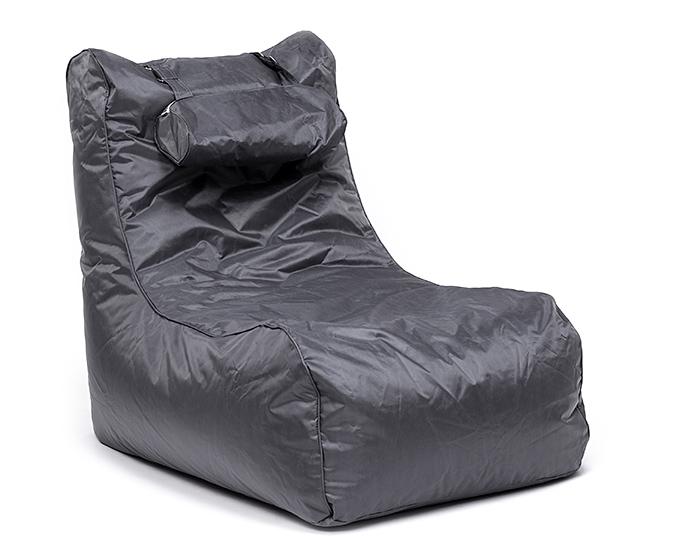 Omni Bag Pillow Lounge šedý - sedací pytel - křeslo s podhlavníkem