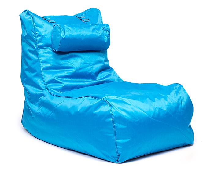 OMNIBAG Pillow Lounge 120x60x90 tyrkysový - sedací pytel - křeslo s podhlavníkem
