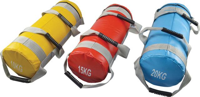 ACRA Posilovací vak 15 kg se čtyřmi úchopy