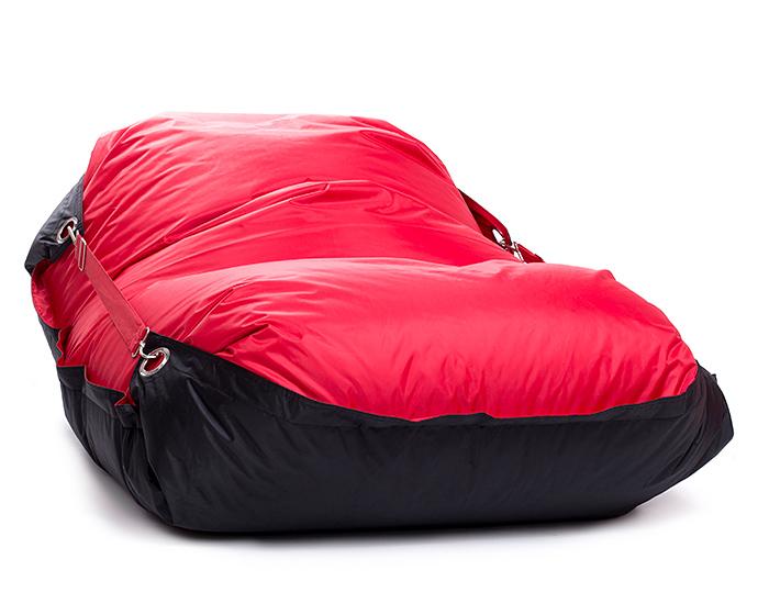 Sedací pytel Omni Bag Duo s popruhy Scarlet Rose-Black 191x141