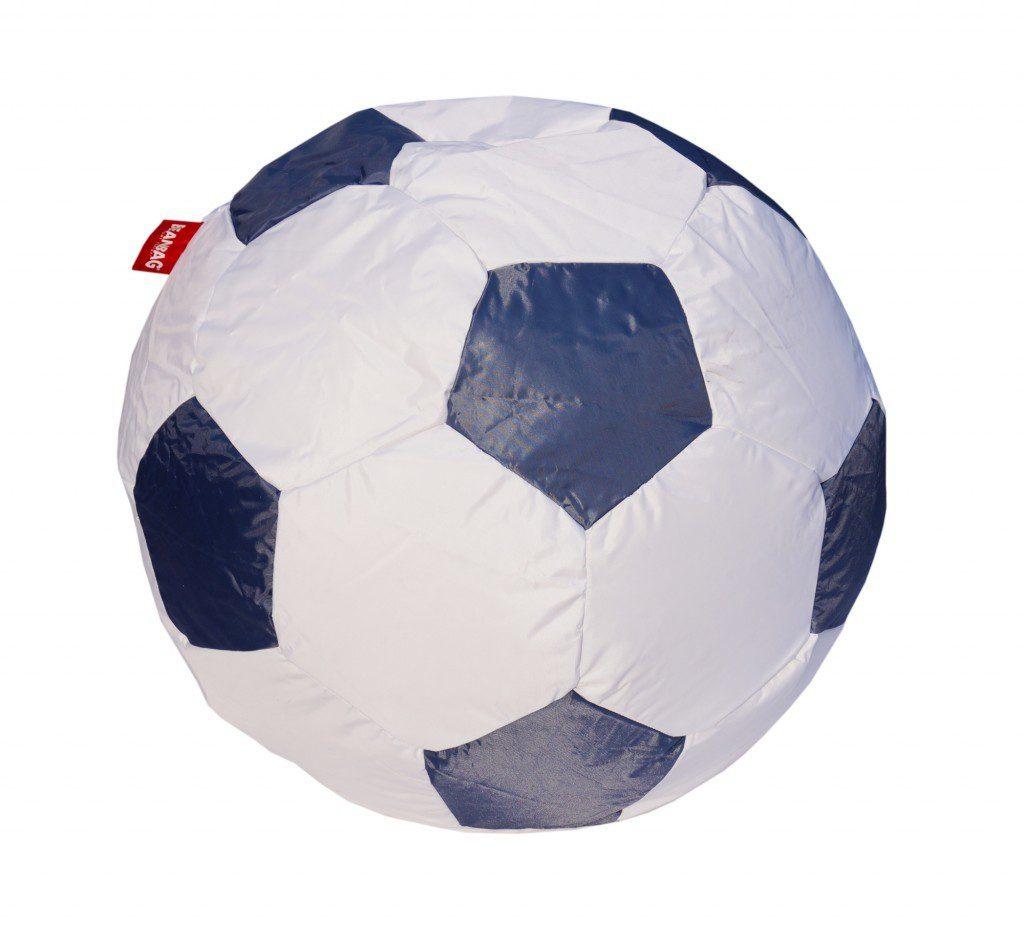 Sedací vak ve tvaru fotbalového míče 90 cm - gray