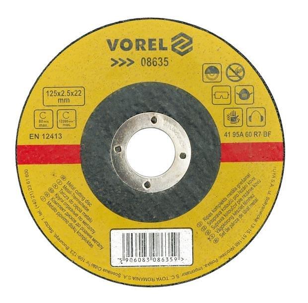 Kotouč na kov řezací 180 x 2,5 x 22 mm Vorel