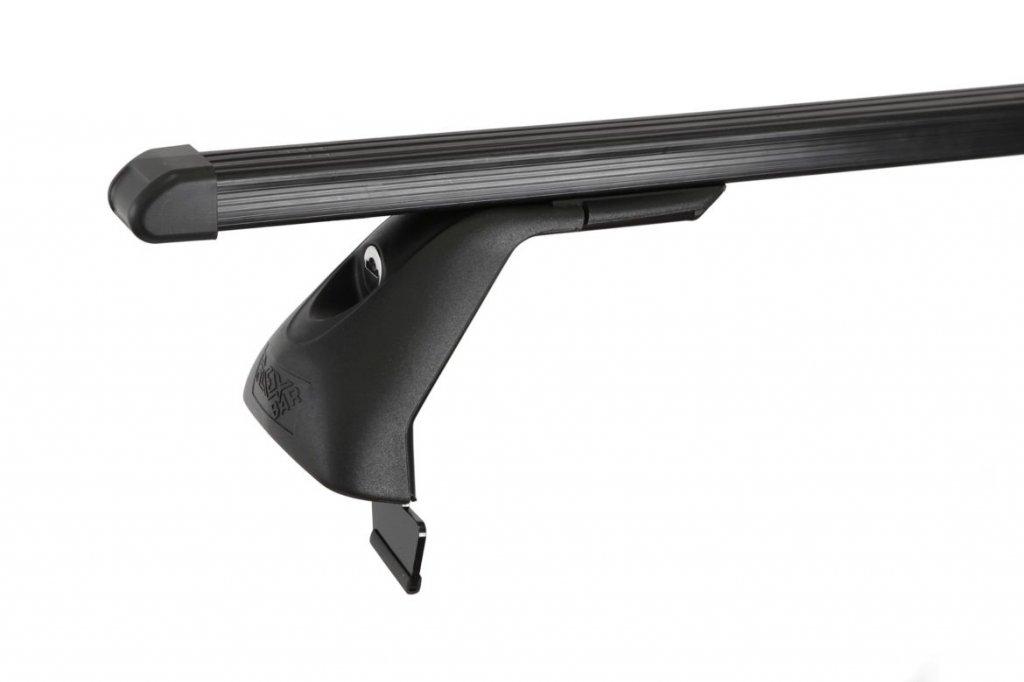Střešní nosiče ELSON auto FL4024+TP2125 Flexbar tyče ocel - Ford S-Max,plech.střecha,pevné body