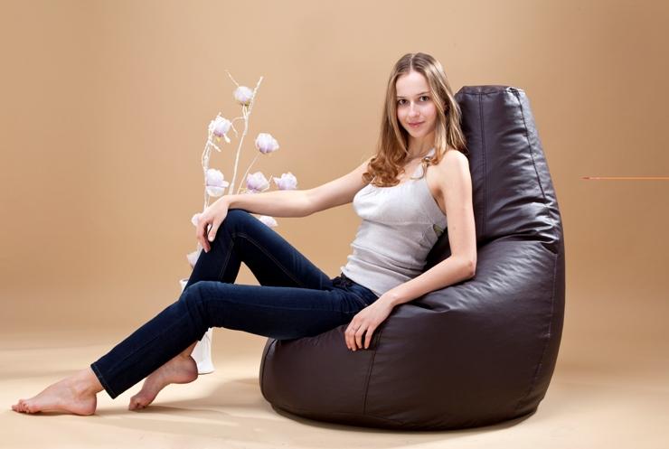 Omni Bag Game kávový - sedací pytel - hruška