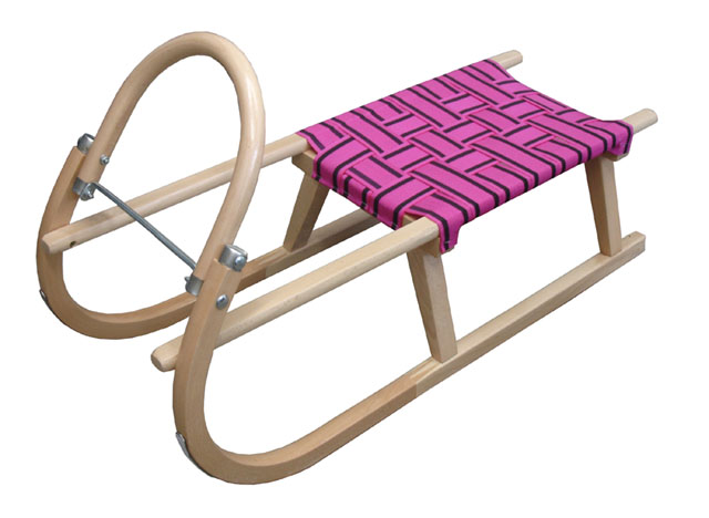 Acra sáně 95 cm dřevěné A204 - fialové