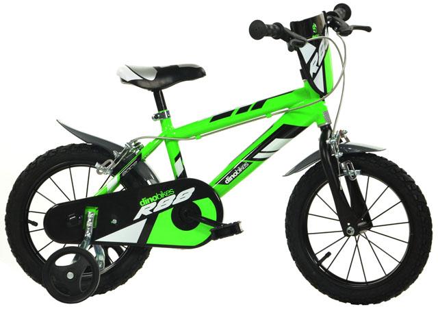 """ACRA Dino 414U zelená 14"""" 2017 dětské kolo"""