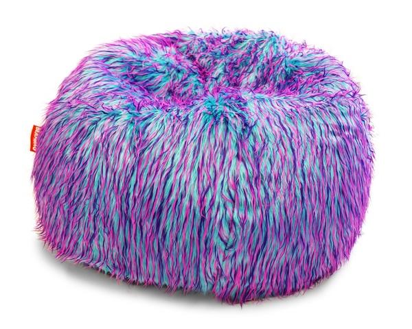 Sedací vak Beanbag Shaggy 90x50 Multicolor pink-violet-blue