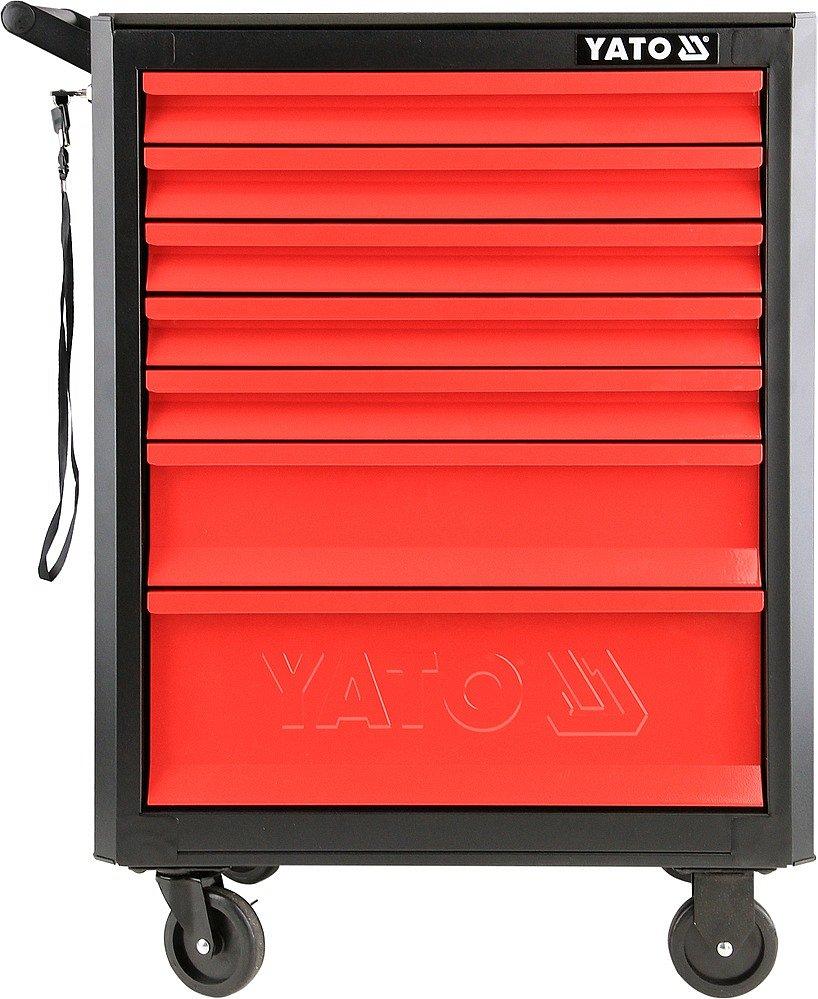 Skříňka dílenská pojízdná 7 zásuvek černo/červená