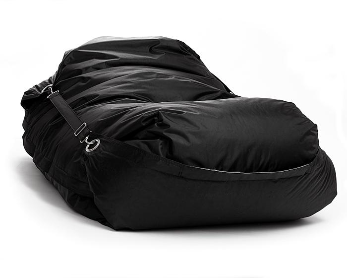 Omni Bag 181x141 Black - sedací pytel s popruhy