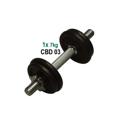 ACRA Nakládací činka jednoruční - 7 kg