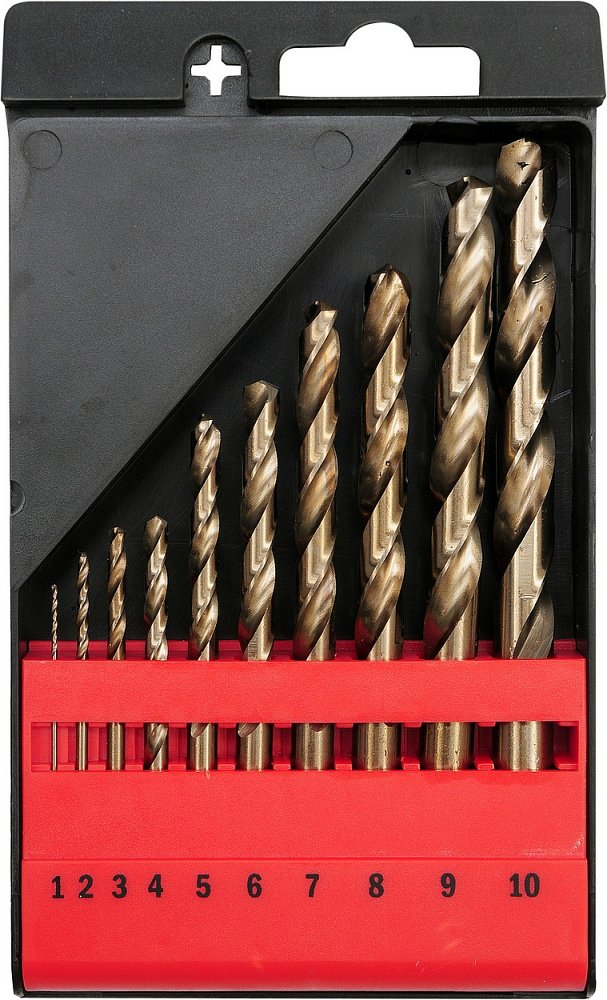 Compass Sada vrtáků na kov 10ks HSS-COBALT 1-10mm
