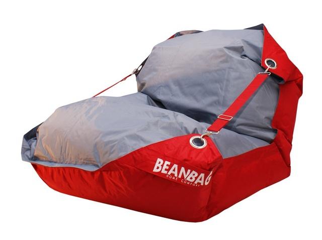 Sedací pytel Beanbag Duo s popruhy 189x140 Scarlet Rose - Gray