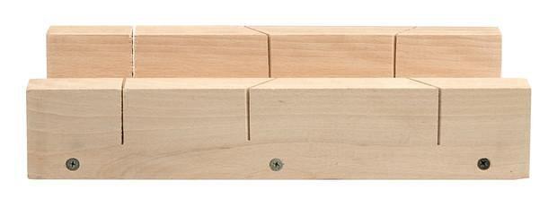 Přípravek na řezání úhlů 450 x 110 mm dřevěný