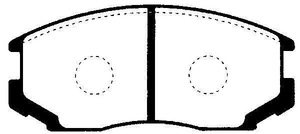 Brzdové destičky Nipparts J3605032