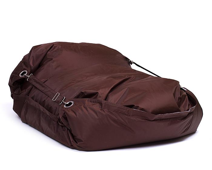 Omni Bag 181x141 Chocolate - sedací pytel s popruhy menší velikost