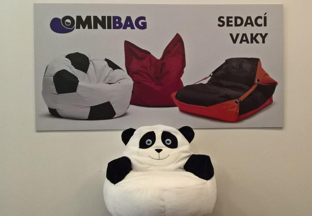 Dětský sedací pytel OMNIBAG křesílko Panda 54x40
