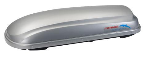 Střešní boxy Kamei Delphin 340K stříbrný matný pravý