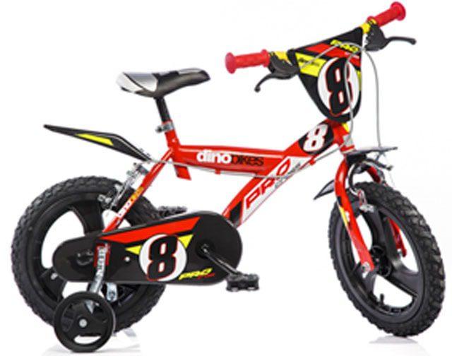 """Dino PRO 143GLN červená 14"""" 2014 dětské kolo"""