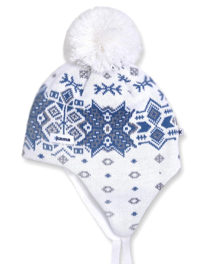 Pletená čepice Kama A66 bílá