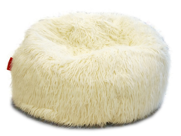Sedací vak Beanbag Shaggy 90x50 white
