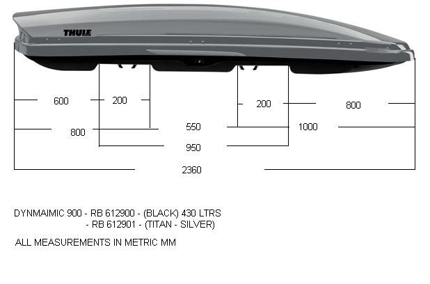 Thule Dynamic 900 titan - aerodynamický střešní box ***