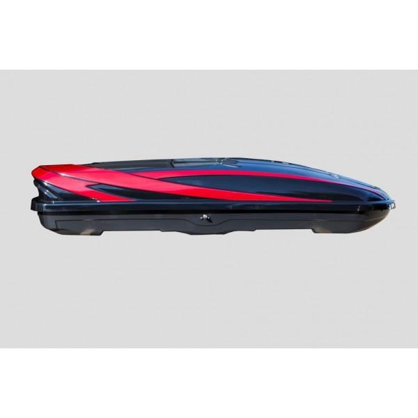 Azzurro Gothic 480 Černý/červený lesklý - střešní box