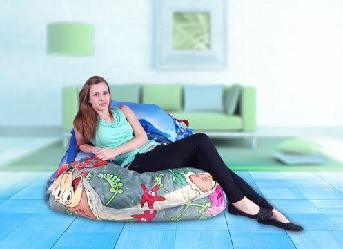 Designový sedací vak BeanBag 189x140 Sea World s popruhy