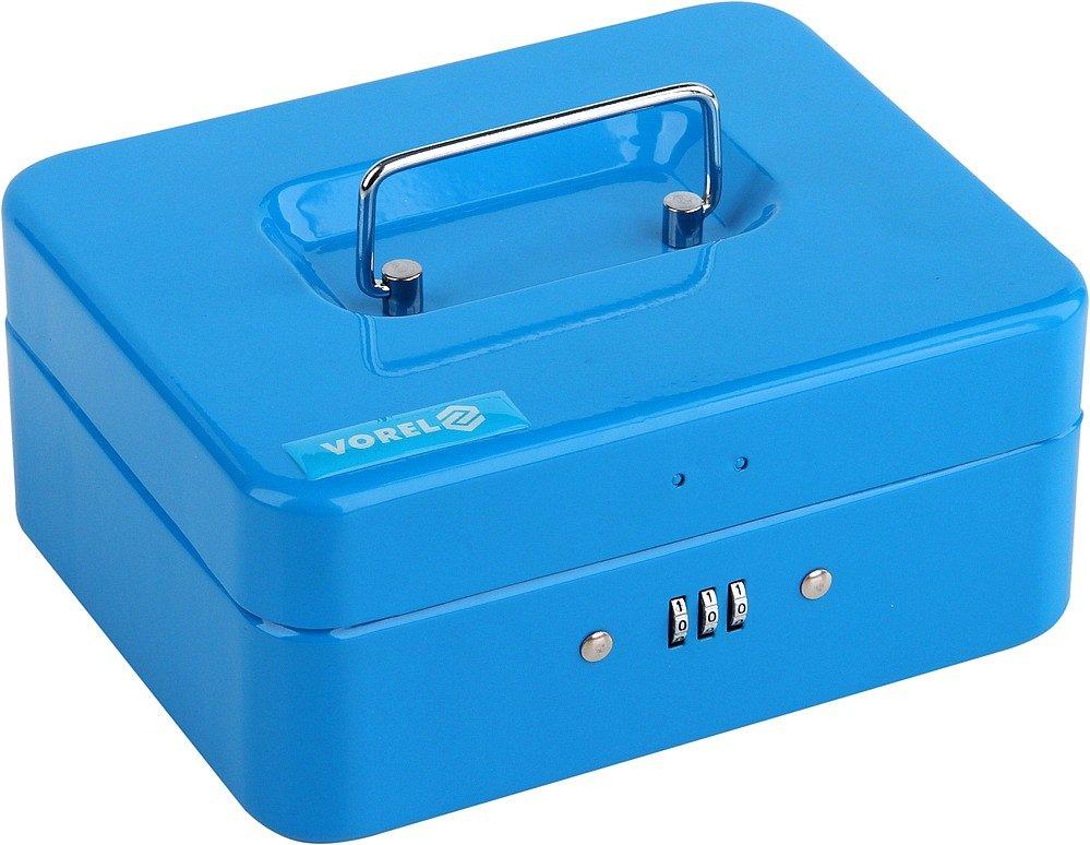 Compass Pokladna příruční 200x160x90mm modrá, číselný kód