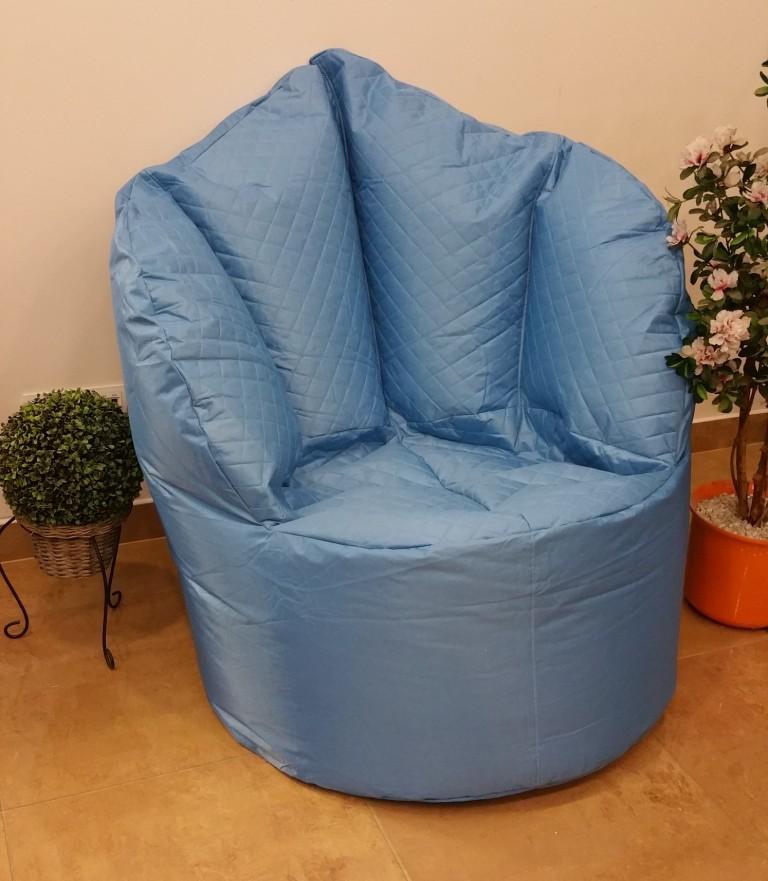 Sedací pytel Big Queen chair Omni Bag modrý