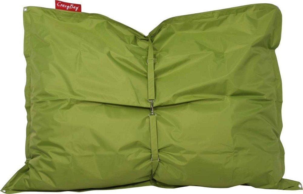 Sedací pytel CrazyBag Outdoor s popruhy 188x140 Green Frog