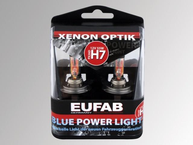AUTOŽÁROVKYEufab H7 Blue Power Light