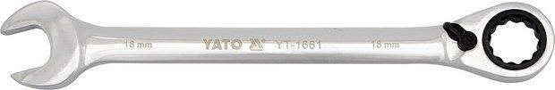 Klíč očkoplochý ráčnový 19 mm