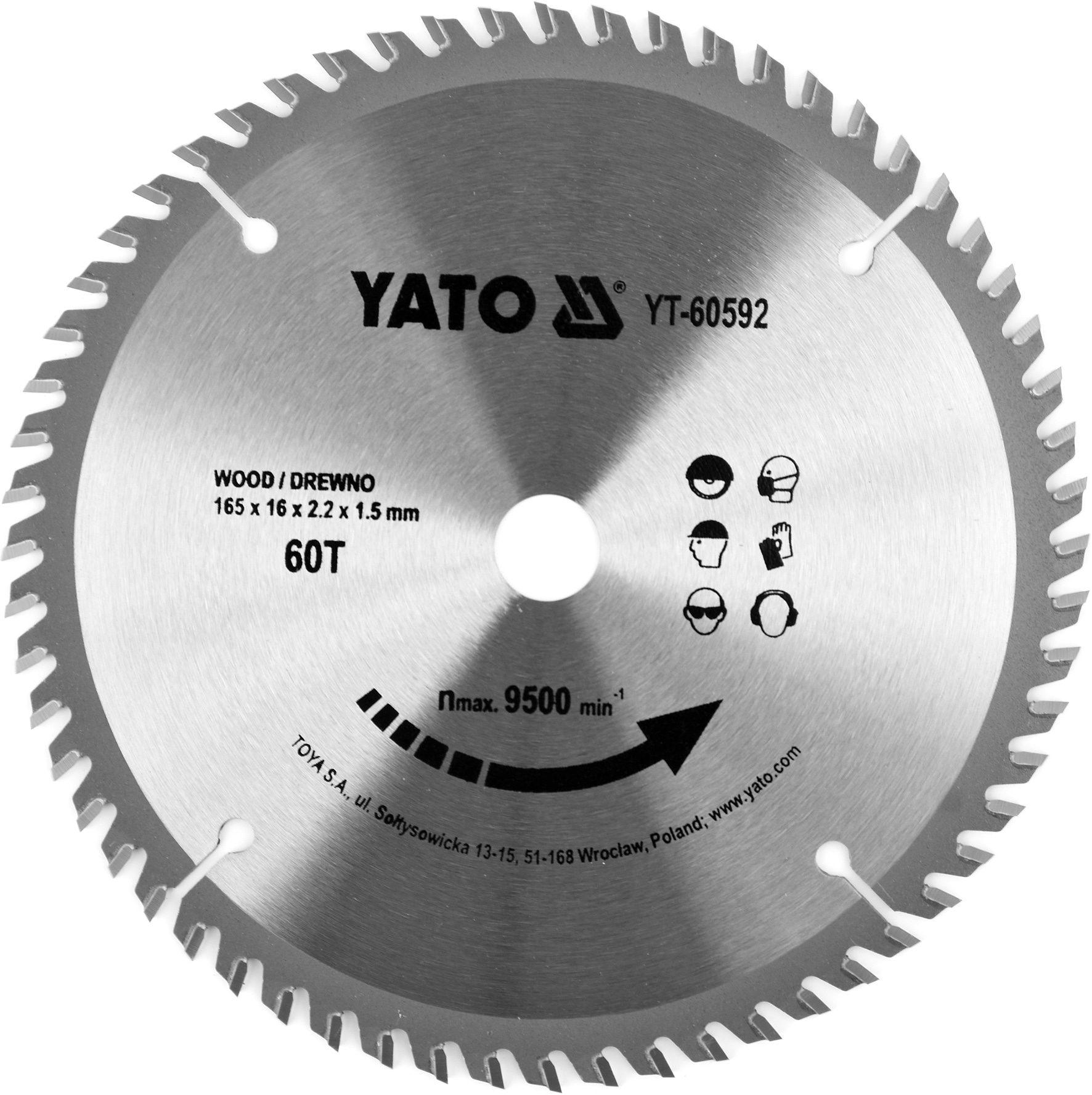 Compass Kotouč na dřevo TCT 165 x 16 mm 60z (pro YT-82810)
