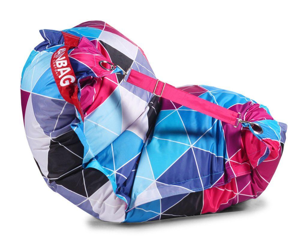 Designový sedací vak Beanbag 189x140 Triangle 2 s popruhy