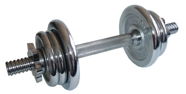 ACRA Nakládací jednoruční činka - 7 kg chromová