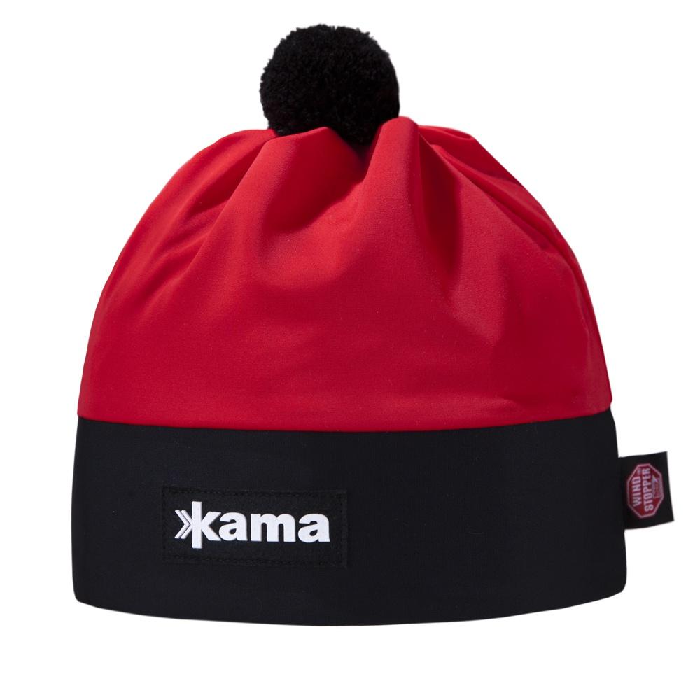 Běžecká čepice Kama AW56 - Windstopper červená