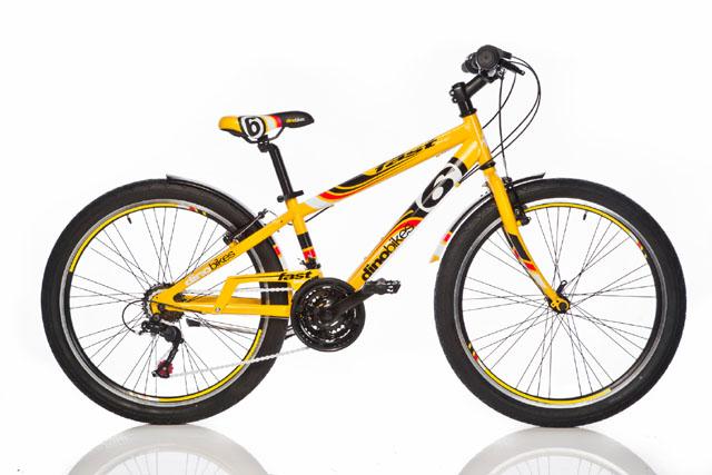 """ACRA Dino 1024G žluté 24"""" 2017 sportovní kolo"""