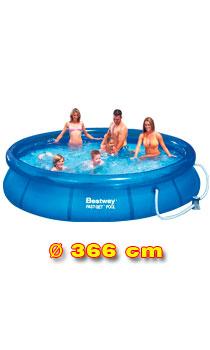 Bazén Bestway 366 x 76 cm s kartušovou filtrací - SKLADOVÝ VÝPRODEJ !!DOPRAVA ZDARMA!!