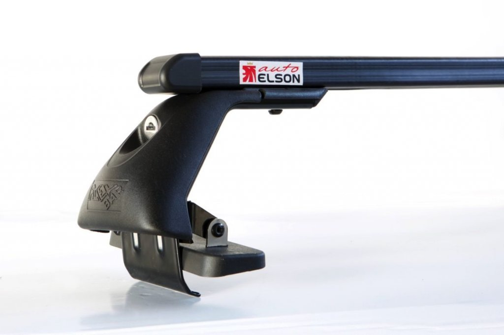Střešní nosiče ELSON auto FL2058+TP2115 Flexbar tyče ocel - Toyota Yaris II 5dv