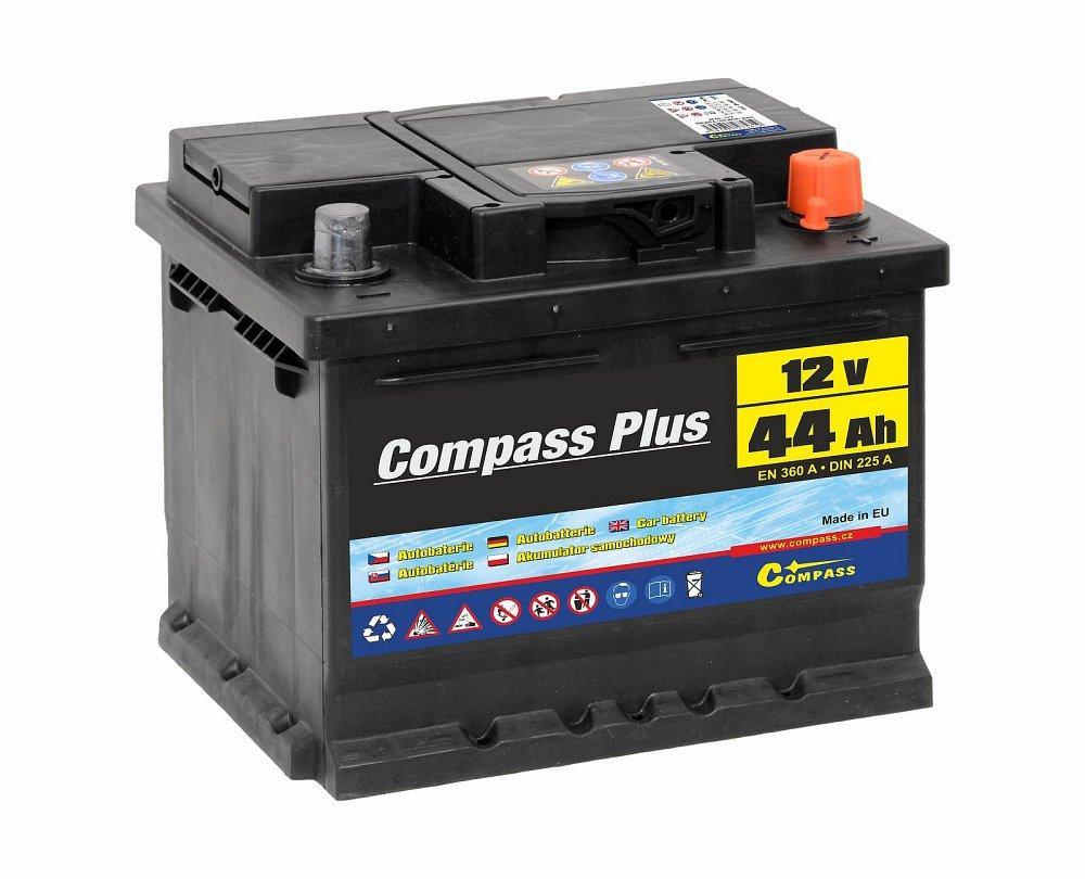 Compass Autobaterie COMPASS PLUS 12V 44Ah 360A