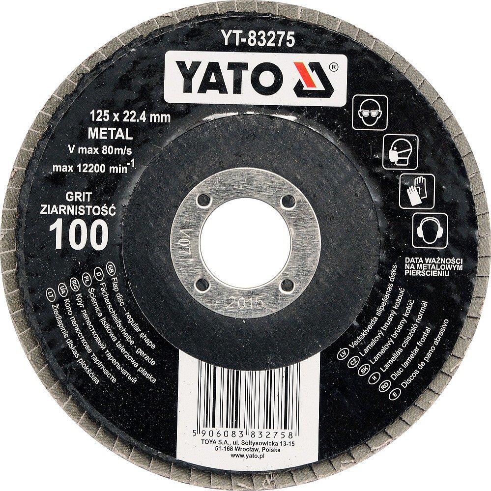 Compass Kotouč lamelový brusný na kov 125x22,4mm P100