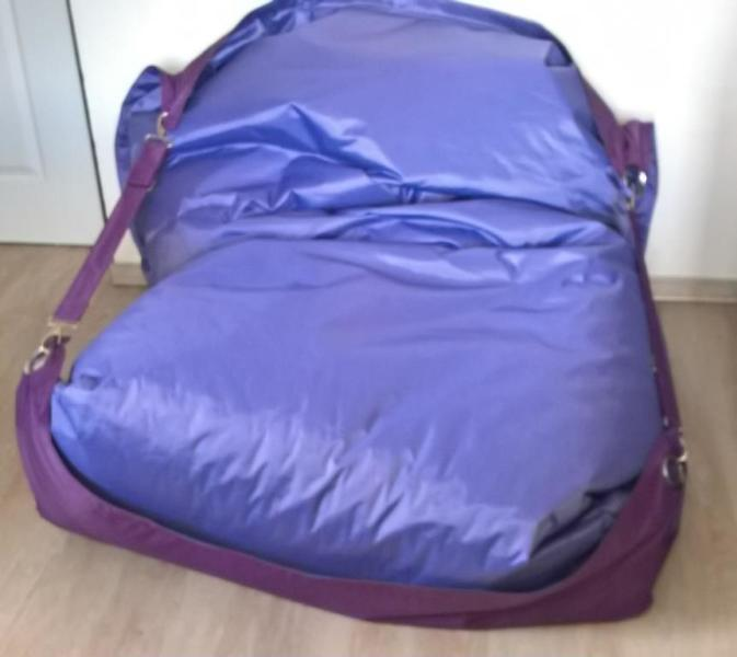 Sedací pytel OMNIBAG Duo s popruhy Light Purple-Violet 191x141