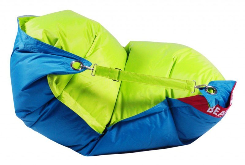 Beanbag Home Comfort Duo 189x140 s popruhy Limet-Turquoise