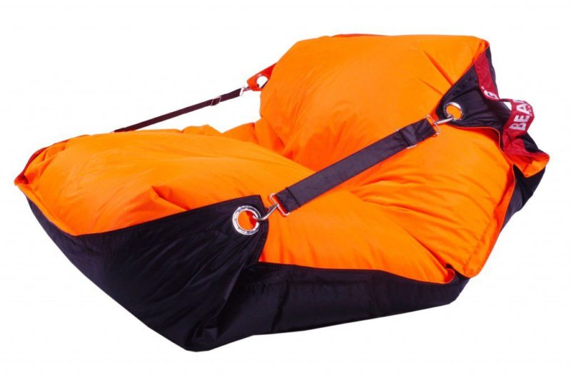 Beanbag Home Comfort Duo 189x140 s popruhy Fluo Orange-Black